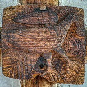 Roof Boss Wood Oak Carving Plain Pelican 16th Century Medieval Coldridge