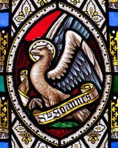 Stained Glass Victorian Saint John Eagle Cookbury