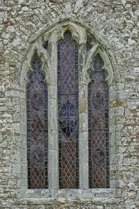 Window Exterior 14th Century Medieval Stonwork Stone Carving Plain Cookbury
