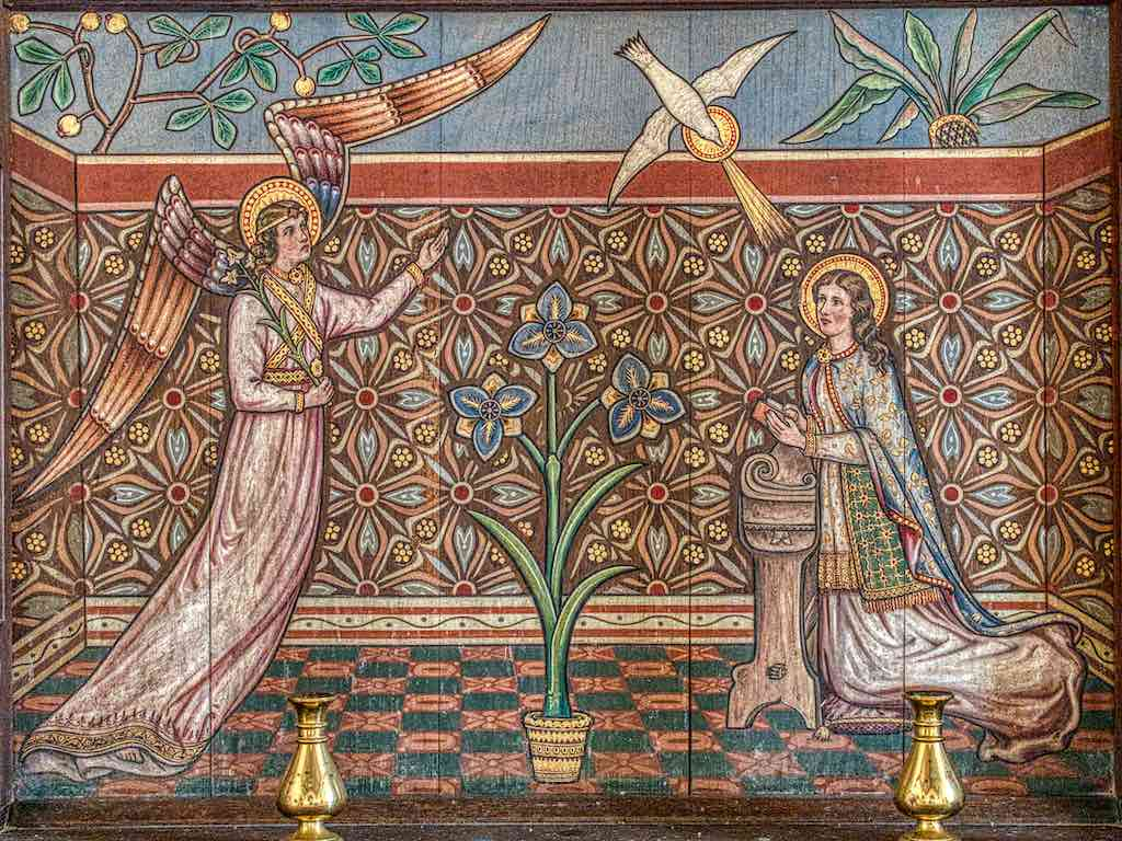 The Annunciation, Victorian style and magically so