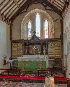 Chancel 17th Century Altar East Window West Down