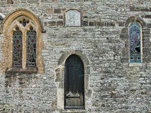 Chancel Priest Door Stonework Windows West Down