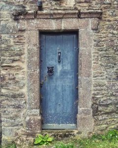 Church Door Exterior Blue Knocker Medieval 15th Century Modbury