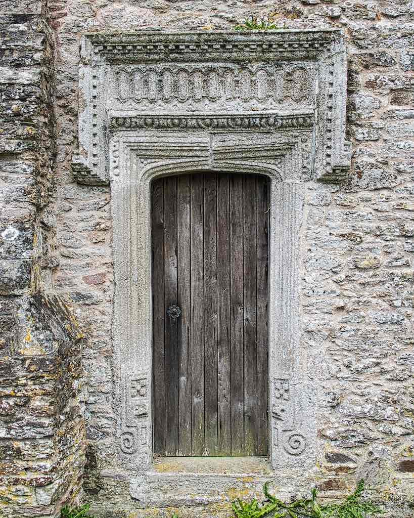 Church Door Exterior Stonework Stone Carving Plain Medieval 16th Century Modbury