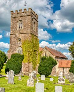 Church Exterior Tower West Red Stone Stonework 15th Century Stoodleigh