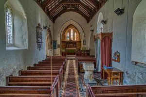 Church Interior 13th Century Medieval Chancel Nave Pews West Down
