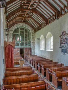 Church Interior 13th Century Medieval Tower Arch Nave Pews West Down.jpeg