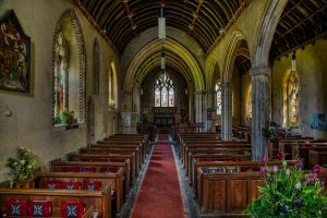 Church Interior Nave Pllars 15th Century Stoodleigh
