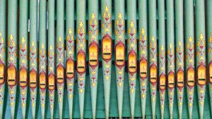 Organ Pipes Stencilled Painted Modbury