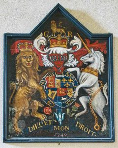 Royal Coat Of Arms George Second 18th Century Wood Coloured Stoodleigh