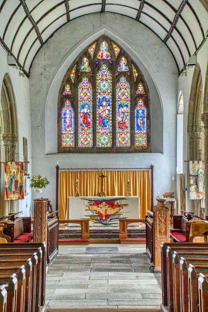 Beautiful colours in the chancel
