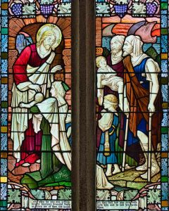Stained Glass Christ Healing The Sick Victorian 19th Century Modbury