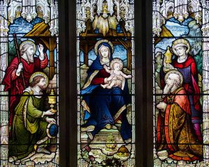 Stained Glass Hardman And Company Christ Nativity Virgin Mary Adoration Of The Shepherds Victorian 19th Century