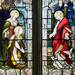 Stained Glass Hardman And Company Christ Resurrection Mary Do Not Touch Me Victorian 19th Century