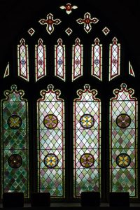 Stained Glass Pattern Patterns Colourful Church Window Victorian 19th Century Modbury Devon
