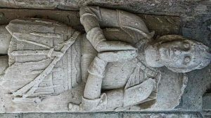 Stone Carving Plain Effigy Tomb Knight 15th Century Medieval Modbury