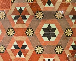 Tiles Floor Encaustic Victorian 19th Century Stoodleigh