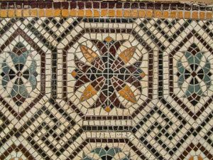 Wall Mosaic Cross Victorian 19th Century West Dow