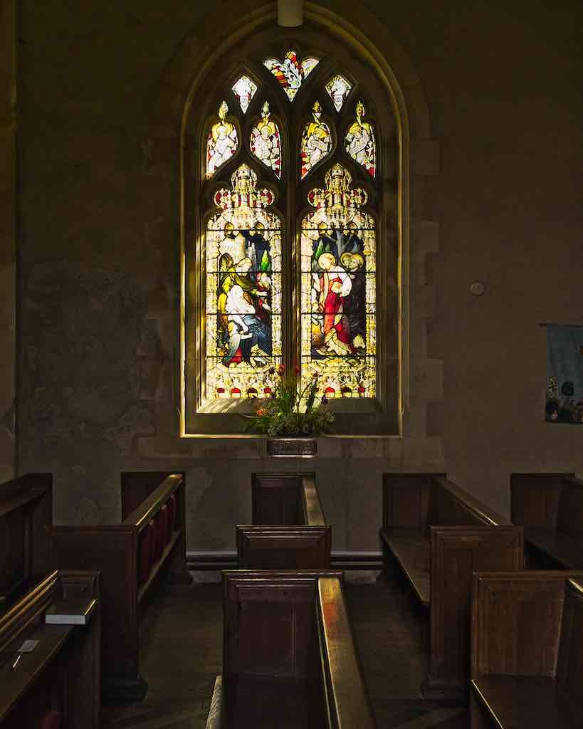 Peace in a church