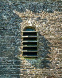 Belfry Window West Tower 16th Century Stonework Louvre Slate Medieval East Allington