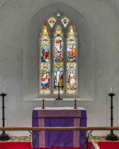 Chancel Sanctuary 14th Century Altar East Window Stained Glass Widworthy
