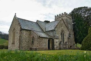 Church Exterior 14th Century Medieval Flint Stonework North Transept Chancel Widworthy