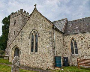 Church Exterior 14th Century Medieval Flint Stonework South Transept Porch Widworthy
