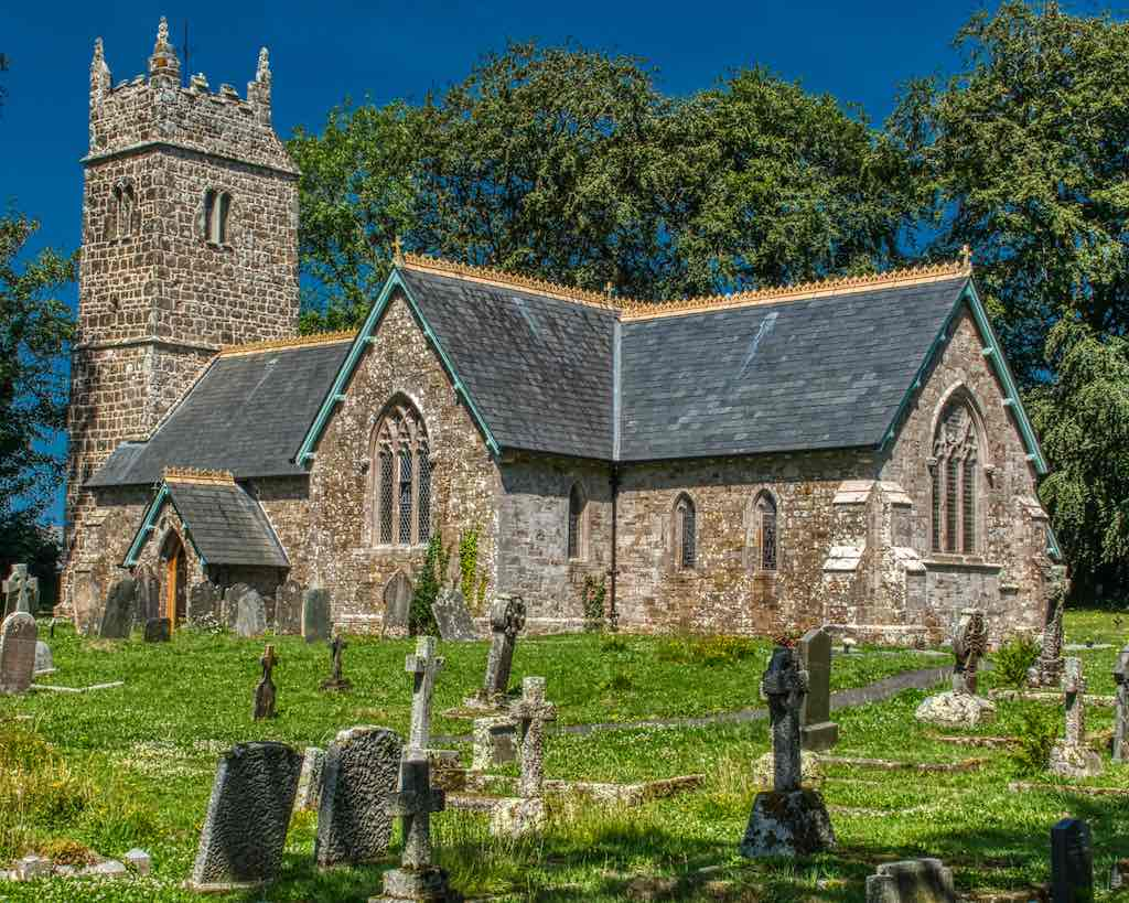 Apart from the probable 14th century tower, Halwill church was totally rebuilt in 1870-1879