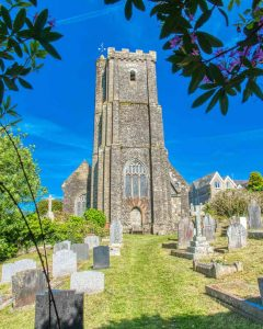 Church Exterior West Tower 16th Century Medieval East Allington