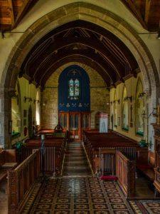 Church Interior Nave Chancel Arch Pew 19th Century Victorian Halwill.