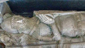 Effigy Monument Knight Sir William Prouz Stone Carving Plain Limestone 14th Century Medieval Widworthy