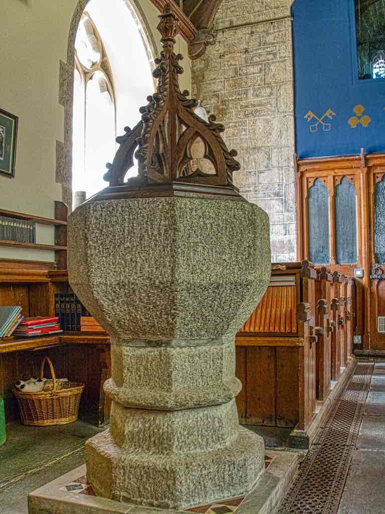 The medieval granite font