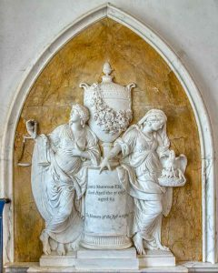 Memorial Marble Stone Carving Plain 18th Century John Bacon The Elder Justice Benevolence James Marwood Widworthy