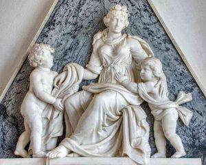 Memorial Marble Stone Carving Plain 18th Century Sarah Marwood Widworthy