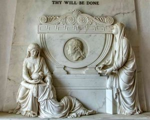 Memorial Marble Stone Carving Plain 19th Century Peter Rouw The Younger Faith Hope Love Medallion Portrait Thomas Marwood Widworthy