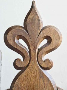 Poppy Head Pew Wood Carving Plain Victorian 19th Century Hawill