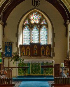 Sanctuary Altar Back Reredos East Window 19th Century Victorian Halwill