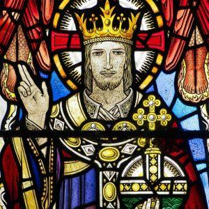 Stained Glass Covenant Window Christ Salvator Mundi 20th Century East Allington