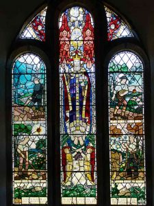 Stained Glass Covenant Window Farming Seasons Christ 20th Century East Allington