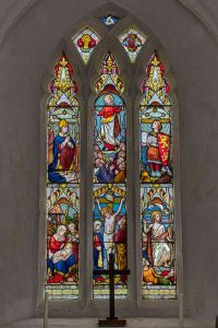 Stained Glass East Window Crucifixion Resurrection Victorian 19th Century Widworthy