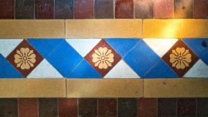 Tiles Floor Geometrical Encaustic Victorian 19th Century Hawill
