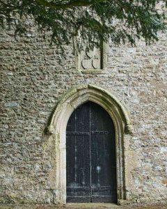 West Door Tower 14th Century Medieval Flint Stonework North Widworthy