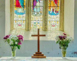 Altar Flowers Cross Rackenford