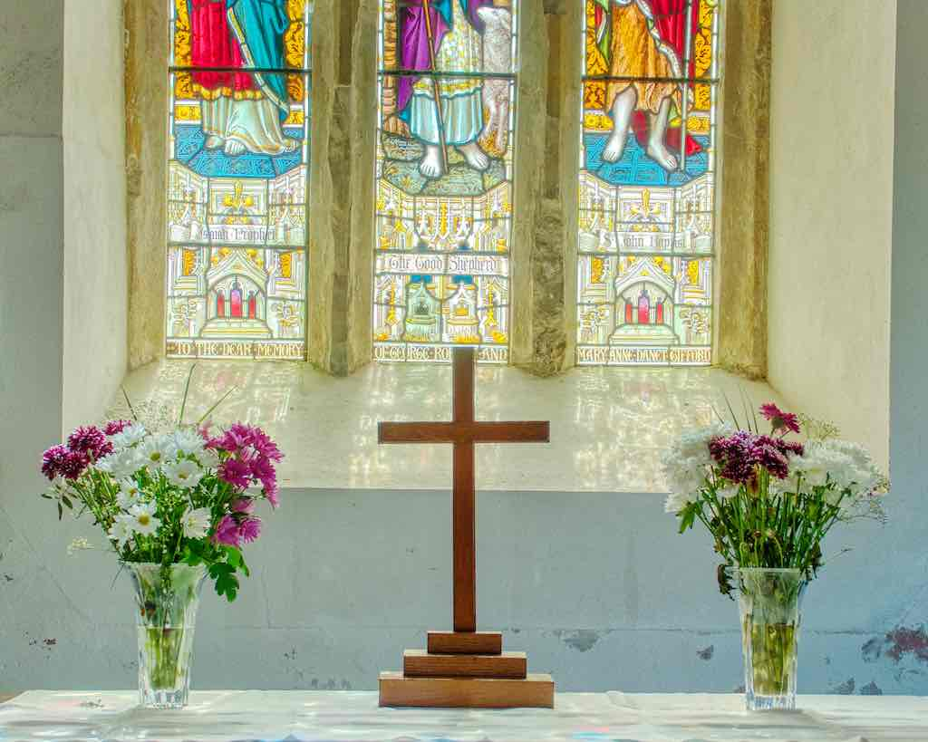 Pastels on the altar