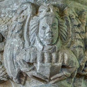 Angel Stone Carving Plain 15th Century Medieval 13th Century West Tower Broach Spire Church Exterior Medieval West Worlington