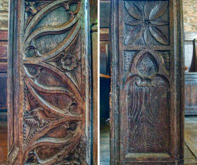 Bench Ends Wood Carving Plain Gothic 16th Century Medieval West Worlington