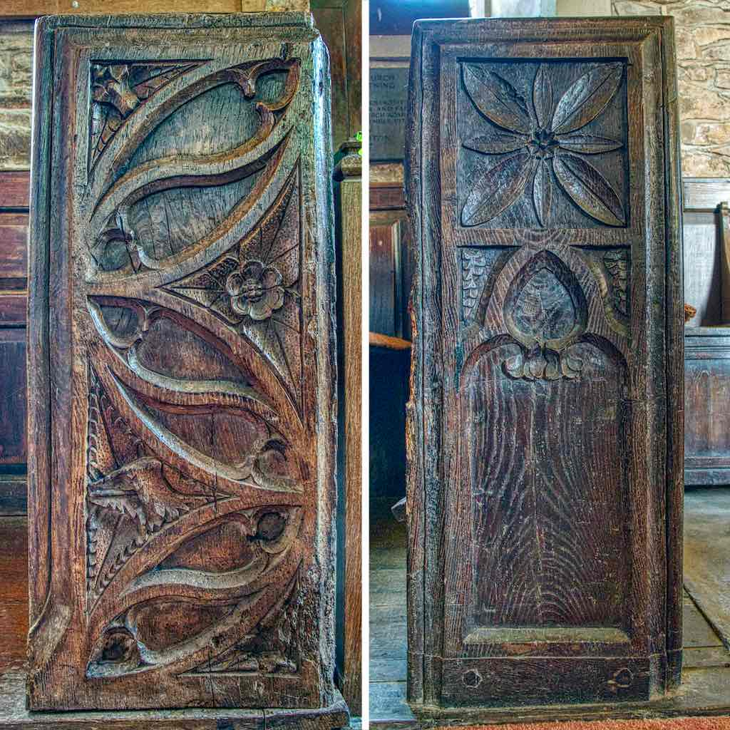 Medieval bench ends and rightly proud of it
