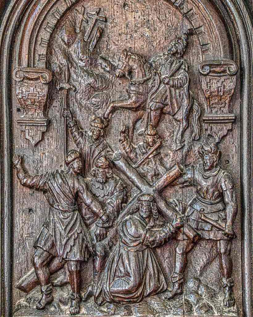 Christ Carrying the Cross, a 17th century Flemish carving