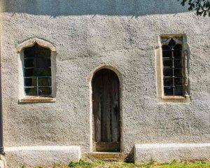 Church Chancel Exterior Render Priest Door Windows 13th Century Medieval Rackenford