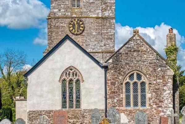 Church Chancel Exterior Windows 15th Century Medieval Rackenford